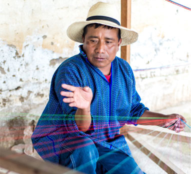 Andres Perez now weaves for customers worldwide