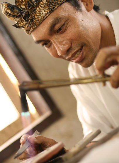 Wayan Sarjana now has a thriving small business