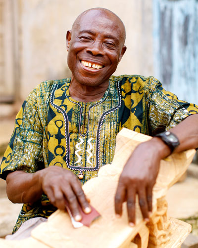 The NOVICA system has transformed the lives of artisans like Nana Frimpong