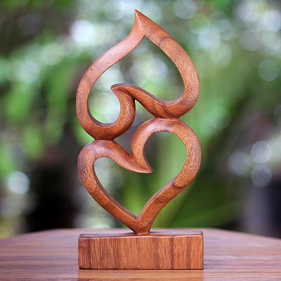 'Upside Down Love', one of Eka's many carvings