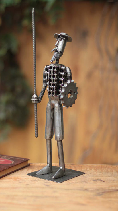 Miguel Mejia recycles mechanical parts to make his sculptures